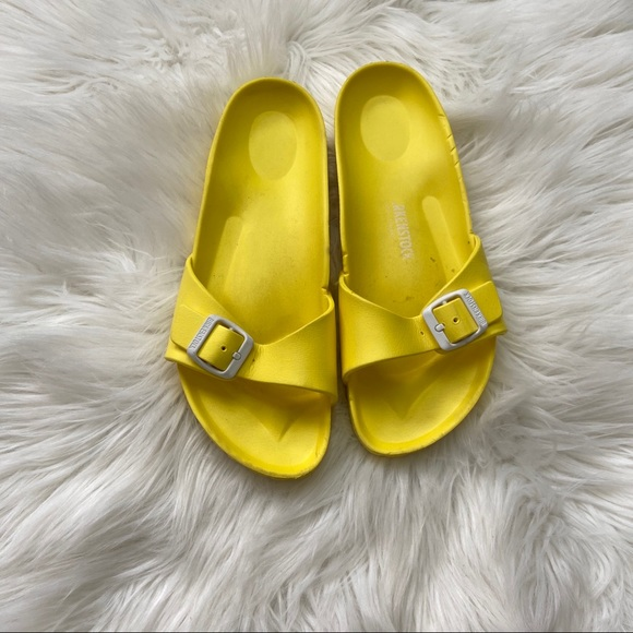 Birkenstock Madrid Essentials Yellow Rubber Sandal